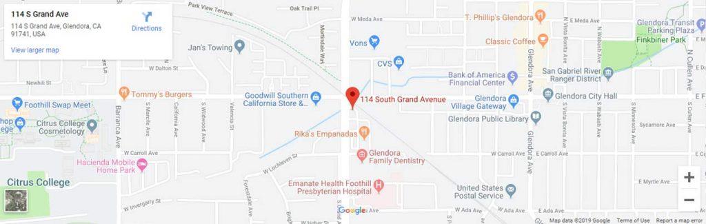 Glendora Family Dentistry google map